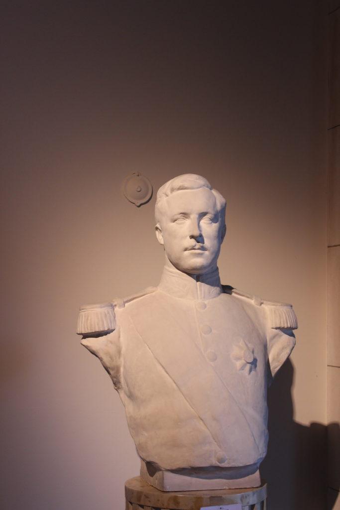 Büste von ALbert-I im königlichen Schloss