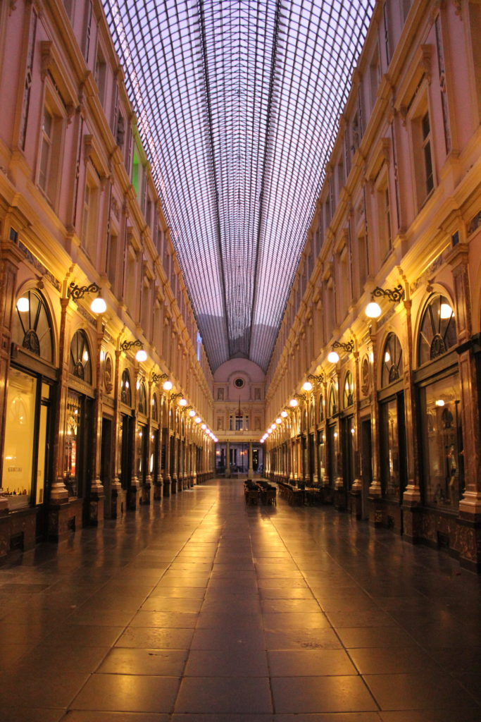 Die Galeries Royales Saint-Hubert. Nur in den frühen Morgenstunden ist sie so menschenleer.