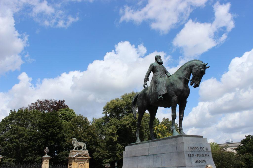 Leopold II an der Place du Trone