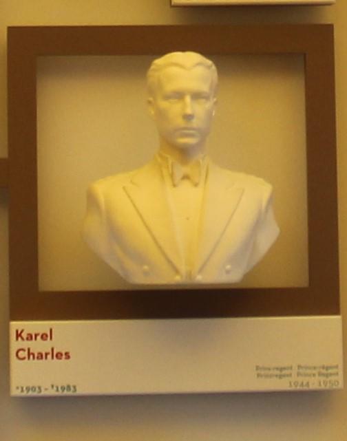 Büste von Prinzregent Karel